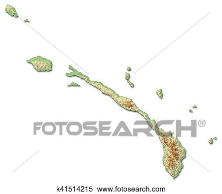 Stock Illustration Of Relief Map New Ireland Papua New Guinea