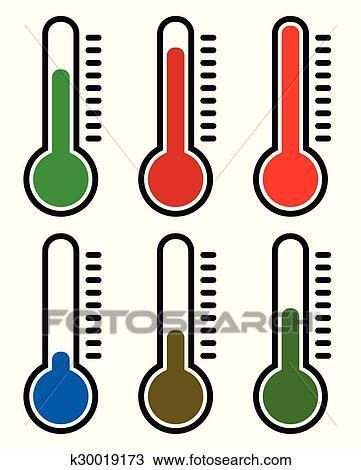 Termometro Set Vetorial Illustration Gelado Quentes Temperatures Clipart K30019173 Fotosearch ¡compra con seguridad en ebay! fotosearch