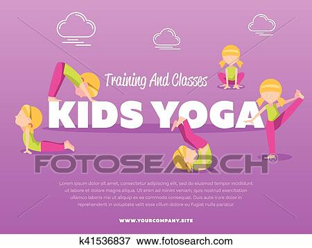 Training And Classes Kids Yoga Banner Clip Art K41536837 Fotosearch