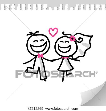 clip art of wedding couple k7212269 search clipart illustration
