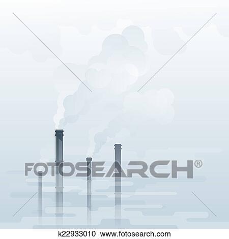 大気汚染 クリップアート切り張りイラスト絵画集 K22933010