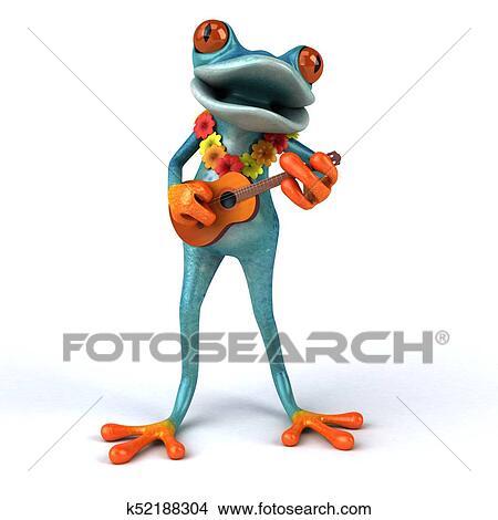 楽しみ カエル 3d イラスト イラスト K52188304 Fotosearch
