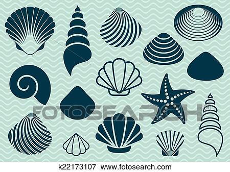 海の貝 クリップアート K22173107