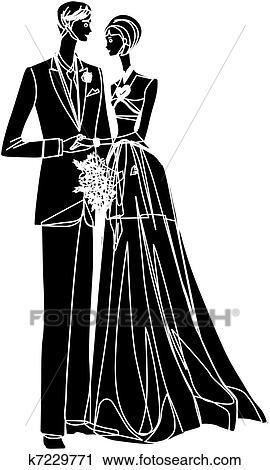 Brautpaar Clipart K7229771
