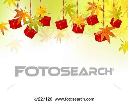 clip art of fall autumn leaves season sale k7227126 search