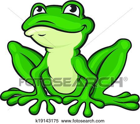 Clipart dessin anim grenouille verte k19143175 recherchez des clip arts des illustrations - Dessin de grenouille verte ...