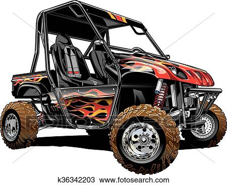 Side By Side Atv >> Offroad Side By Side Atv Clipart