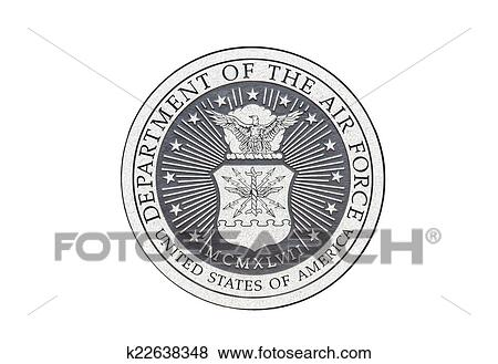 Stock Illustration   U.S. Air Force Official Seal. Fotosearch   Search EPS  Clip Art,