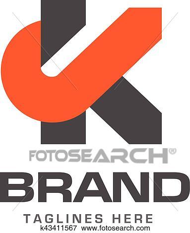 clip art of creative letter k template logo k43411567 search