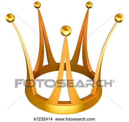Drawings Of Gold Crown The Princess K7232414 Search Clip Art