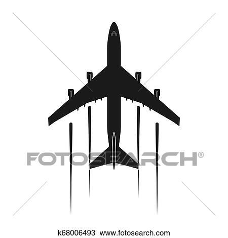 Simples Aviao Desenho Icone Ou Logotipo Clipart K68006493