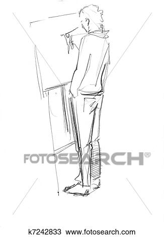 drawing of an easel has youth k7242833 search clipart