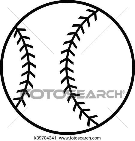 clipart of baseball vector icon k39704341 search clip art rh fotosearch com baseball cap vector art baseball laces vector art