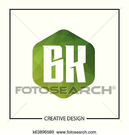 Initial Letter Bk Logo Template Design Vector Illustration Clip Art
