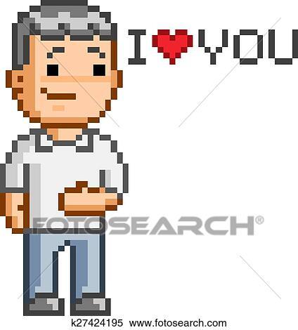 Pixel Art Amour Sucré