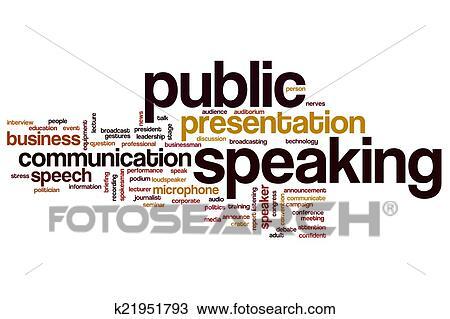 drawing of public speaking word cloud k21951793 search clipart rh fotosearch com public speaking audience clipart public speaker clipart