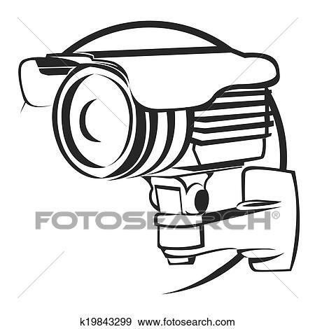 clip art of security camera k19843299 search clipart illustration rh fotosearch com