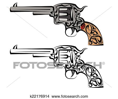 clipart of tattoo gun design k22176914 search clip art rh fotosearch com Tattoo Ink Tattoo Ink