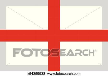 Angleterre Drapeau Pixel Art Dessin Animé Retro Jeu Style Clipart