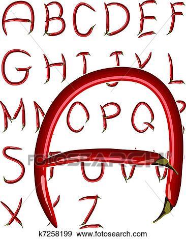 Colección de ilustraciones - chile, alfabeto k7258199 - Buscar ...
