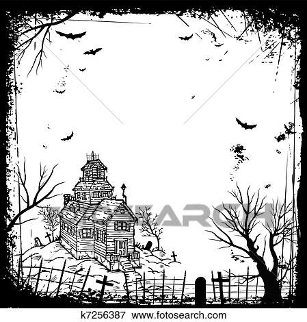 Halloween, rahmen Clip Art k7256387