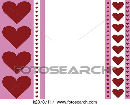 Stock Illustration Of Heart Stripe Valentine Card Design K23787117