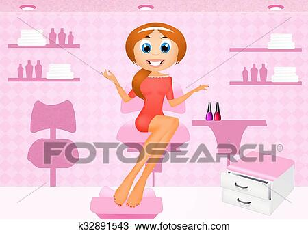 Dibujo manicura y pedicura k32891543 Buscar Clip Art