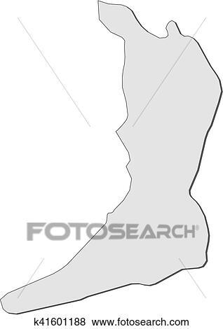 Clip Art of Map - Osaka (Japan) k41601188 - Search Clipart ...