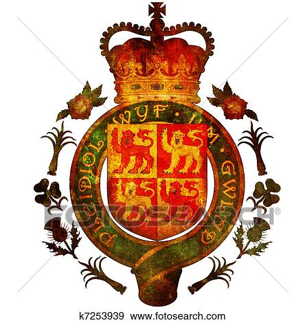 Stock Illustration Of National Emblem Of Wales K7253939 Search