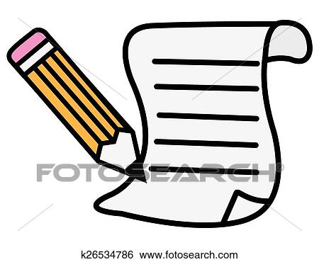 clip art of pen and paper k26534786 search clipart illustration rh fotosearch com pen and paper writing clipart pen and paper clip art image