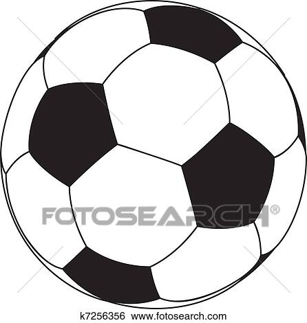 Vektor Fussball Ball Clip Art K7256356 Fotosearch