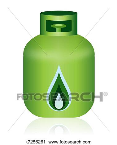 vert gaz naturel bouteille ic ne clipart k7256261. Black Bedroom Furniture Sets. Home Design Ideas