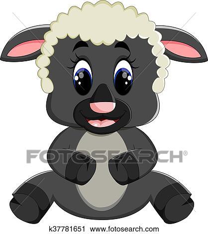 Clipart mignon mouton dessin anim k37781651 - Mouton dessin anime ...