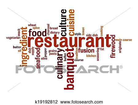 clip art of restaurant word cloud k19192812 search clipart