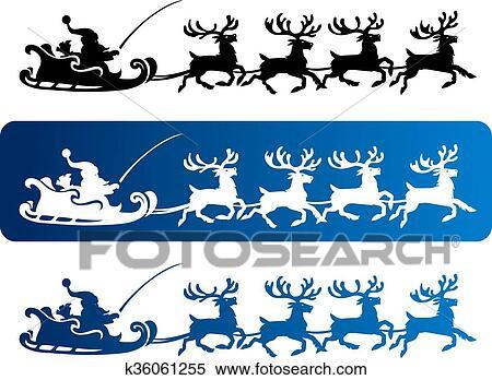 Santa to Ski Clipart Free PNG Image Illustoon