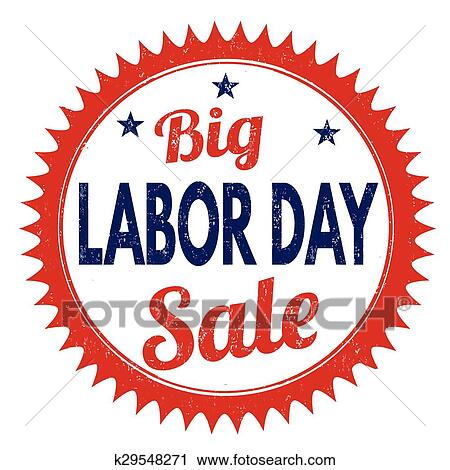 Big Labor day sale stamp Clipart