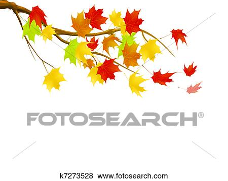 Stock Illustration Blatt Herbst K7273528 Suche Clip Art
