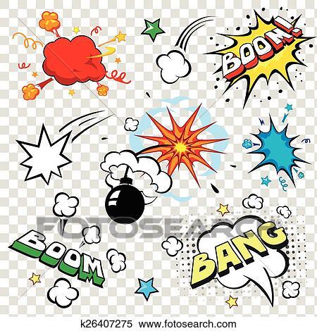 Comique parole bulles dans sauter art style bombe - Boom dessin anime ...