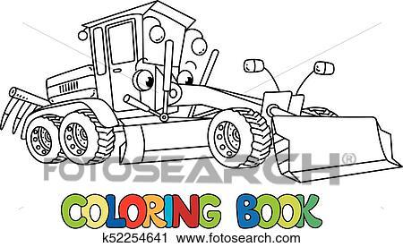 Clipart - divertido, pequeño, calificador, coche, con, eyes., libro ...