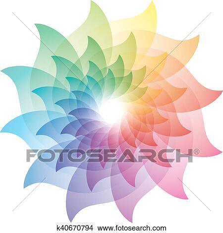 Dibujos Hermoso Flor De Loto Color Rueda Icon K40670794