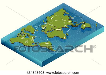 Clip art of map world isometric concept 3d flat illustration of map clip art of map world isometric concept 3d flat illustration of map world vector world map connection political world map isometric 3d world map gumiabroncs Image collections