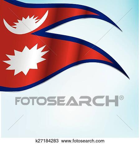 Nepal flag Clipart