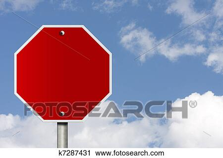 Blank Stop Sign Clip Art