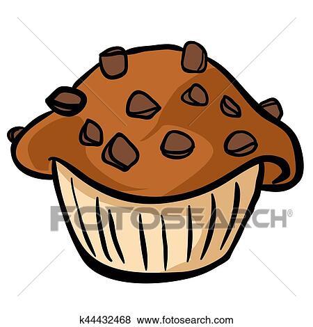 Chocolate Chip Muffin Clip Art K44432468 Fotosearch