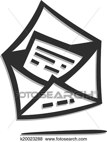 Cover and letter Clip Art | k20023288 | Fotosearch