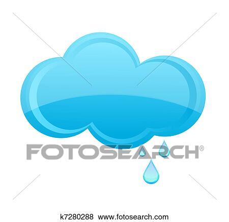 clip art of glass rain cloud sign blue color k7280288 search rh fotosearch com