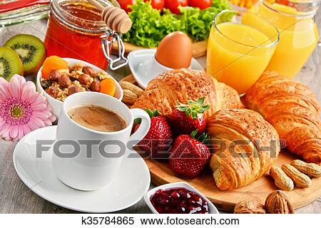 petit-d%C3%A9jeuner-consister-de-banque-dimage__k35784865