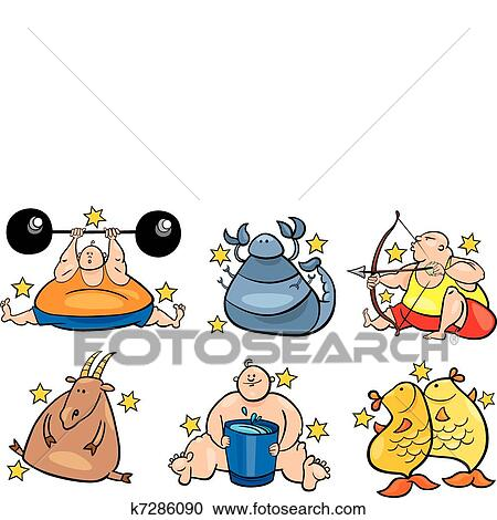 Signos zodiacos-08. El signo del zodiaco aries con personajes de horóscopos  aislados en el fondo blanco. diseños para