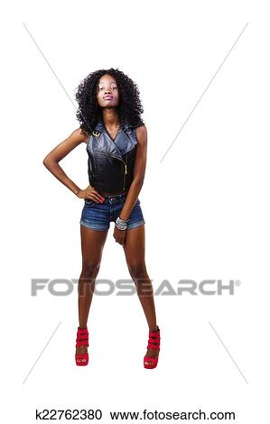 Ebony little nude girl