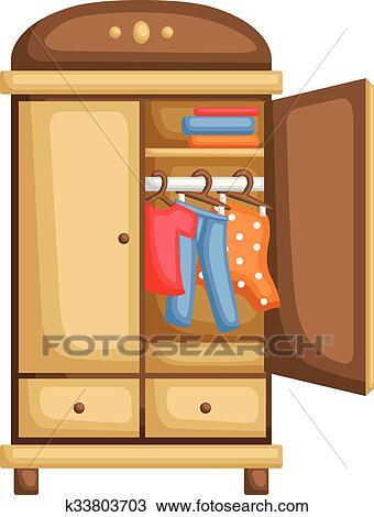 Clipart Of Wardrobe K33803703 Search Clip Art Illustration Murals